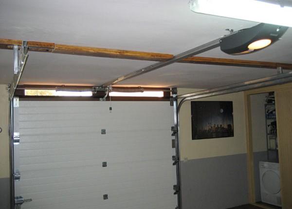 puerta seccional para garaje, vista interior